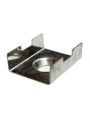 Grapa cromada para perfil aluminio
