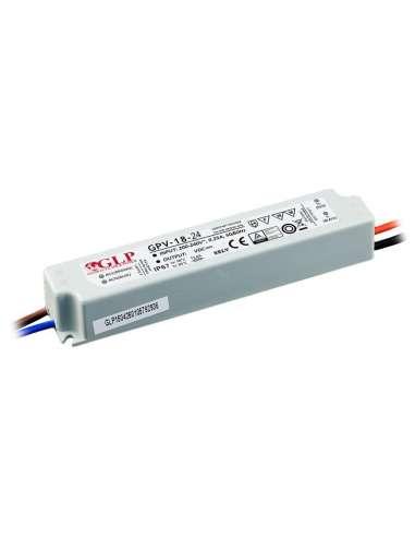 F/A 24V 0,75A 18w IP67 GLP