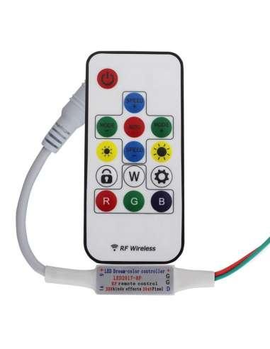 Mini Controlador RF Pixel led mando...