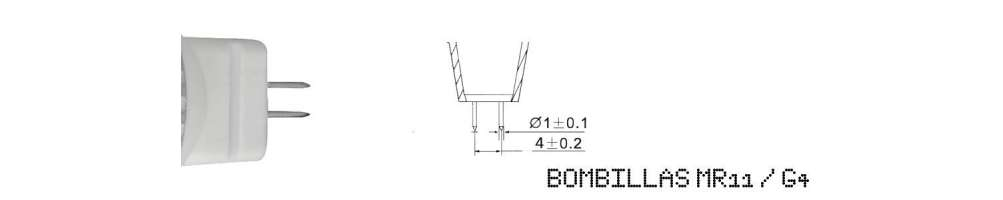 Bombillas led MR11 y G4