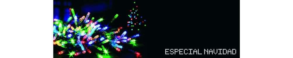 Guirnaldas, alambre led, regletas de enchufes y accesorios para iluminación creativa navideña
